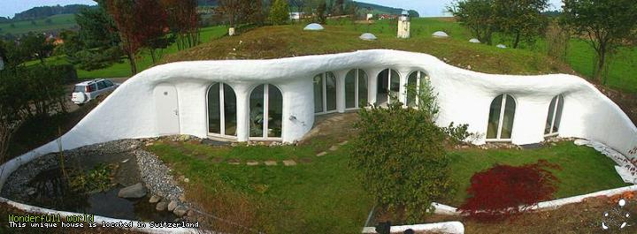This unique house is located in Switzerland